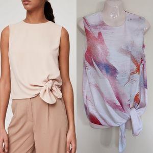 Aritzia babaton Hopkins abstract sleeveless blouse